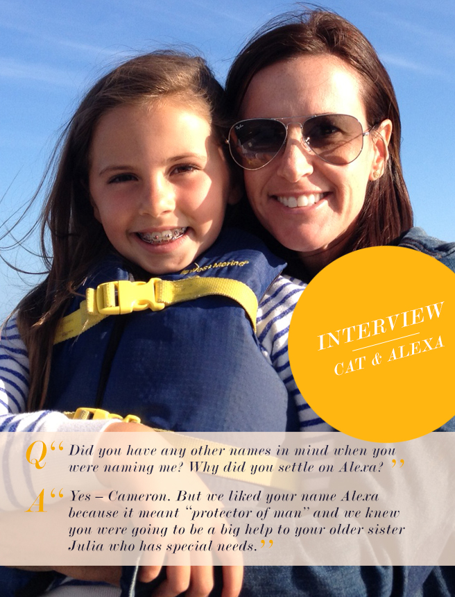 Mother Daughter Love Notes: Catherine and Alexa