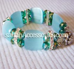 Blue Cat-Eyes Crystal Bracelet