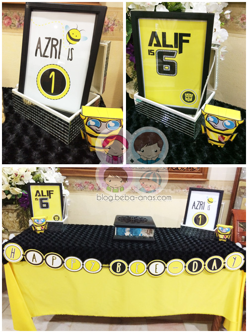 bumblebee theme table for birhtday