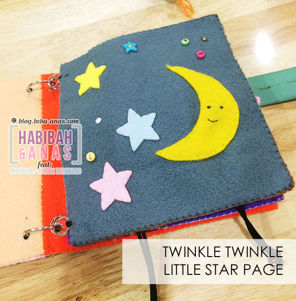 busy book for baby - twinkle star page