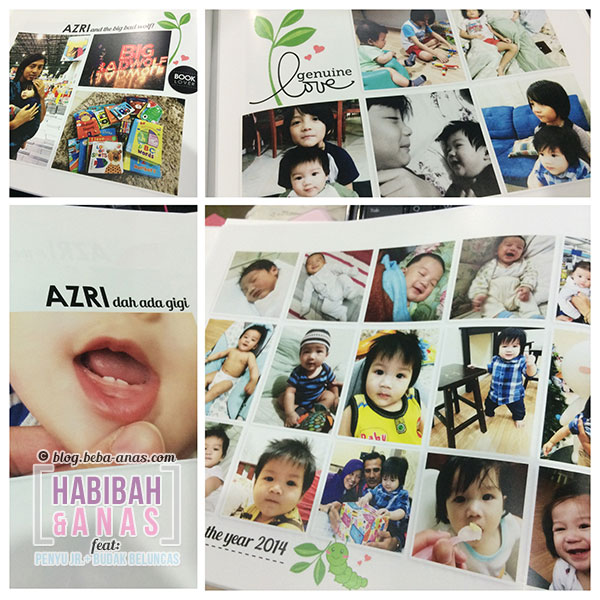 baby's first year photobook -