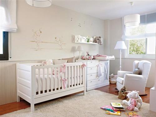 Distribuir los muebles en la habitacion del bebe - Como distribuir una habitacion con dos camas ...