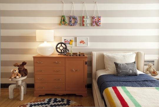 Ideas para decorar la pared en habitaciones infantiles
