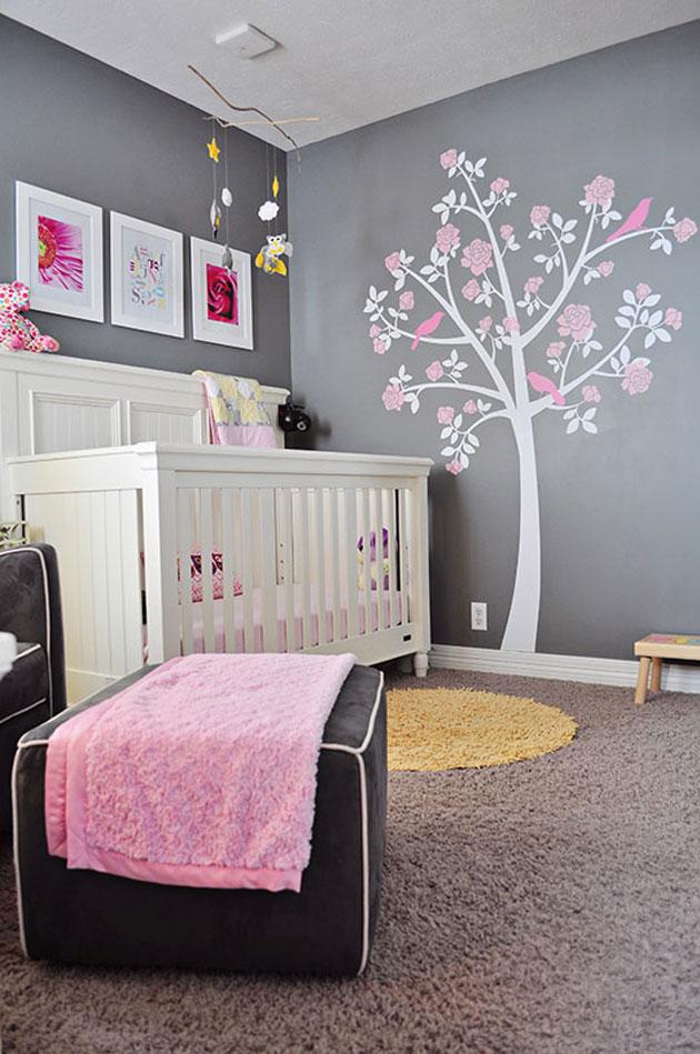Habitacion de bebe en rosa y gris 6 blog bebe y decoraci n - Habitacion gris y rosa ...