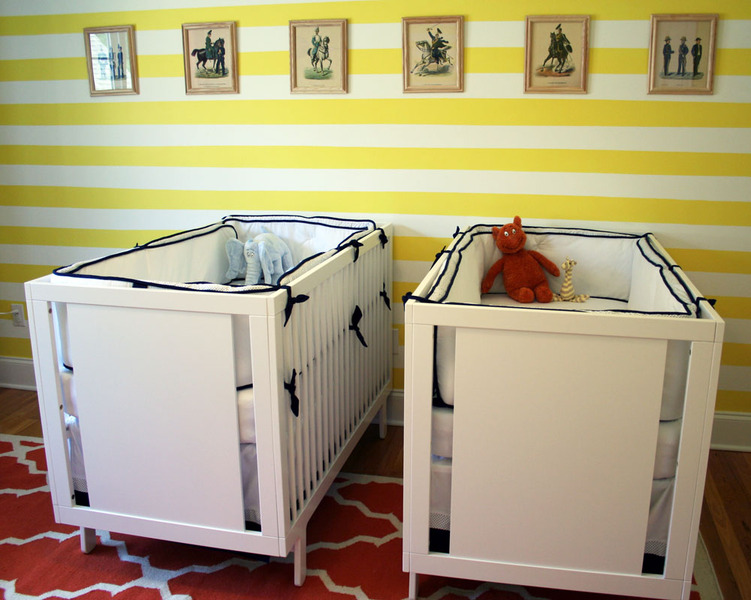 Habitaciones de bebe en amarillo