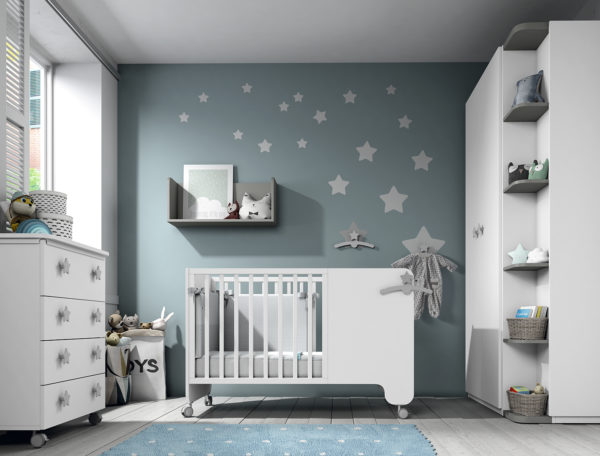 habitacion de bebe soft white muebles ros