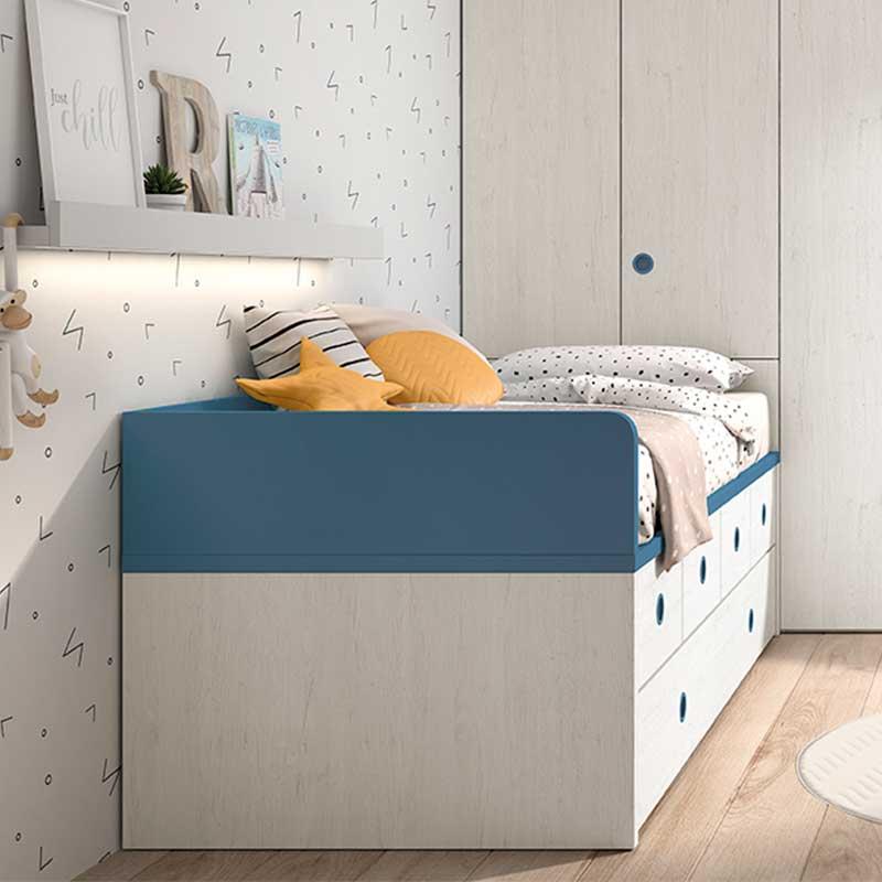 cama compacta con arrastre up