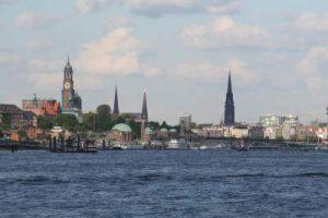 Blick auf die Skyline von Hamburg