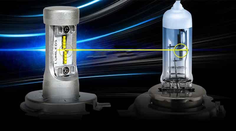 lampu halogen dan lampu LED