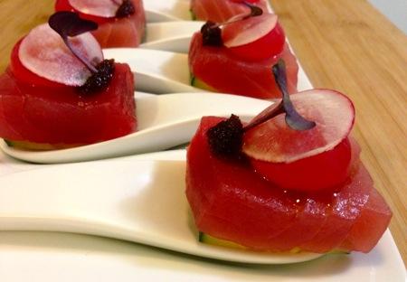 Tuna w/Hibiscus & Soy Pudding