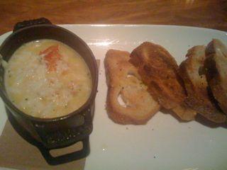 Crab fondue