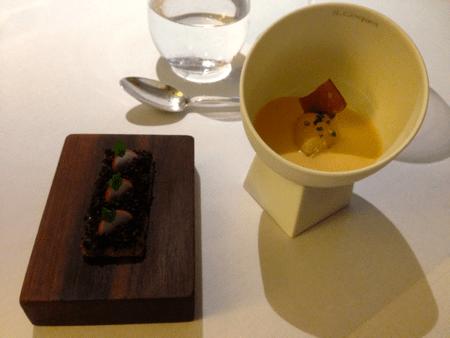 Quail Jelly, Crayfish Cream