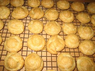 Gruyere cheese gougeres