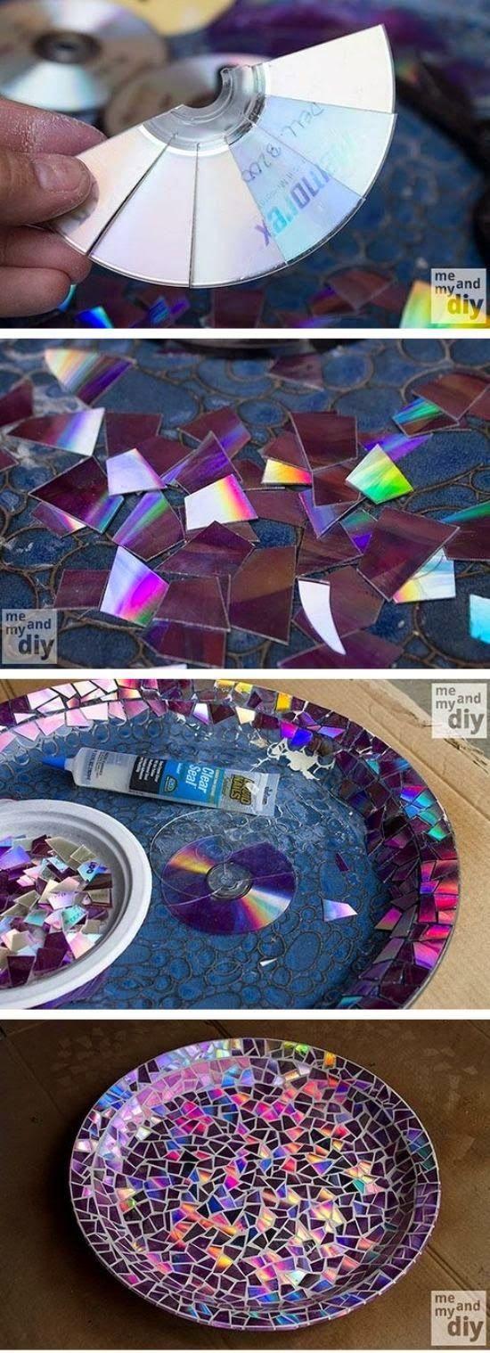 Mosaico com cd's