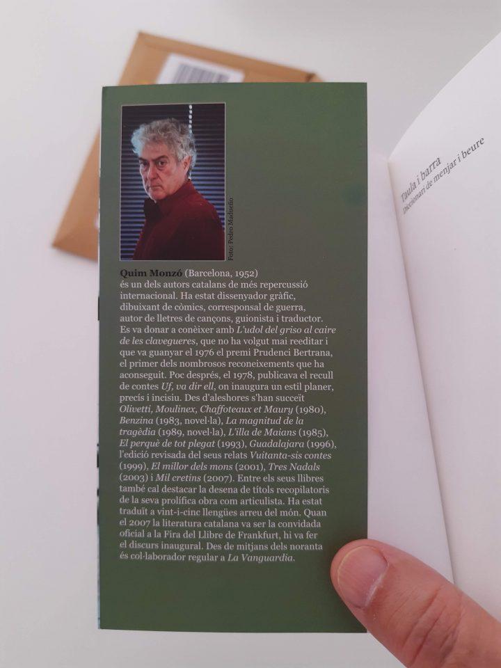 Foto de perfil i 'bio' de l'autor