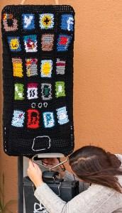 Pay Phone Yarn Bomb by Lorna Watt