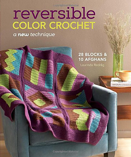 Laurinda's book also includes 28 reversible afghan pattern blocks crochet in Berroco Comfort.