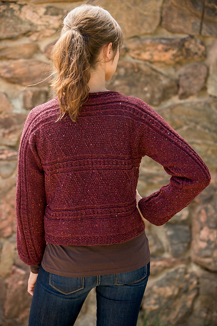 Black Baccara Cardigan by Nancy Vandivert, Interweave Knits Fall 2014