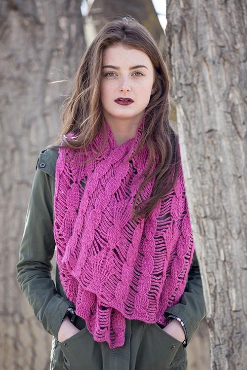 clematis shawl crochet pattern in Berroco Folio