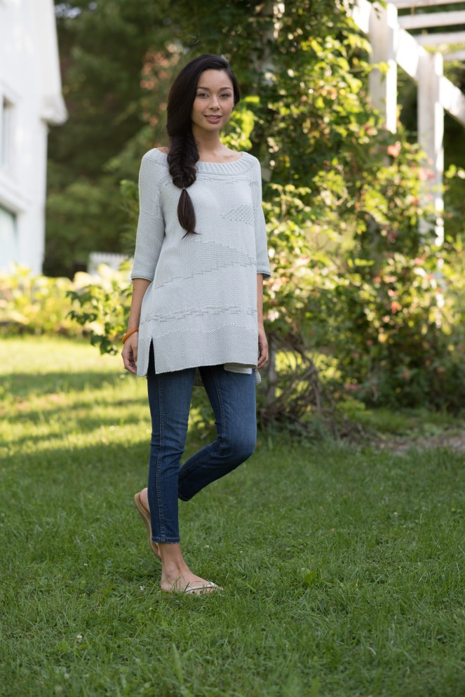 Landscape Pullover by Norah Gaughan knit in Berroco Modern Cotton DK