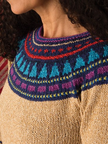 Agave sweater knitting pattern by Berroco