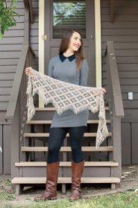 Emergence crochet shawl by Kathryn White