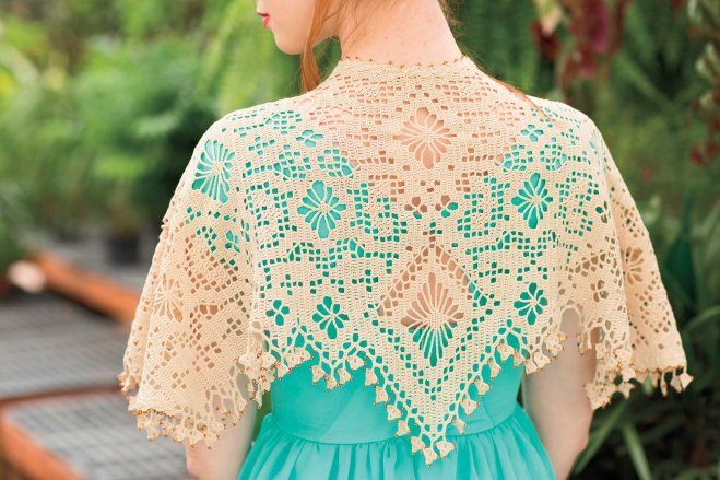 Eolande crochet shawl by Kathryn White