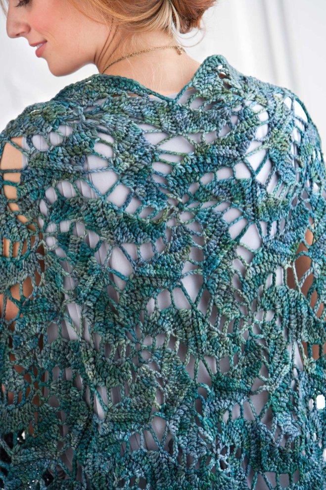Blue Lagoon crochet shawl by Kristin Omdahl