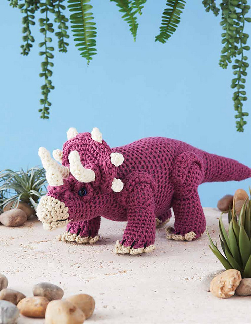 triceratops stuffed toy to crochet