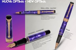 Aurora Optima Viola Fountain Pen