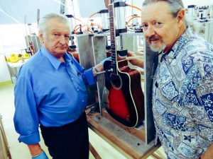 Joe Marinic (left) and Ren Ferguson are working in the most modern guitars factory in the world