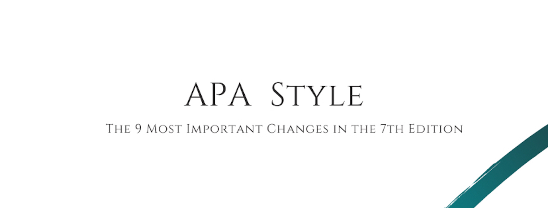 The 9 Most Important Changes in the 7th Edition of the APA
