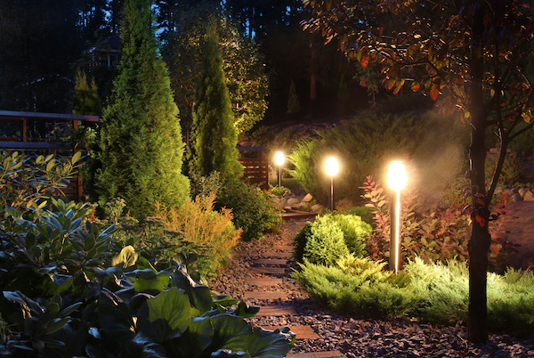 When to downlight or light up your landscape