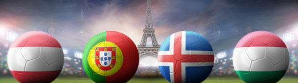 Fußball-EM 2016 Gruppe F - Österreich, Portugal, Island, Ungarn