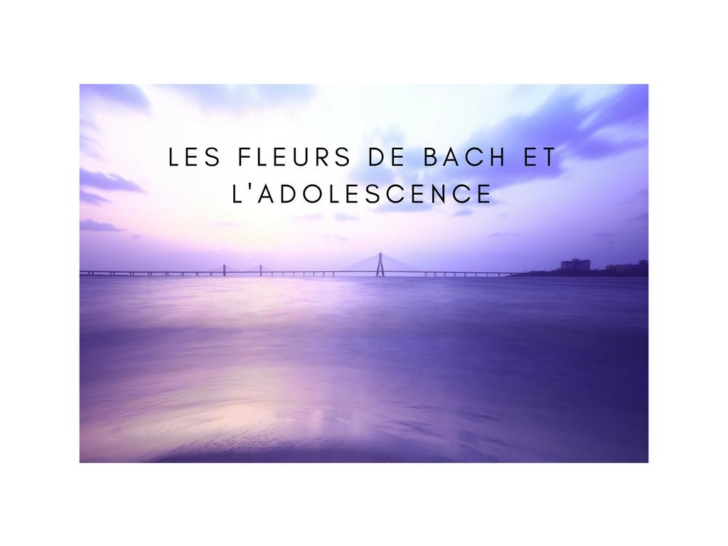 Les fleurs de Bach et l'adolescence