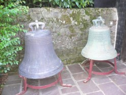 Cast bells waiting to be tuned.