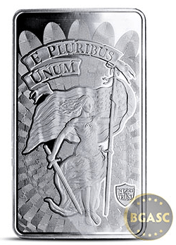 10 oz Silver Bar Liberty & Unity .999 Fine Bullion Ingot