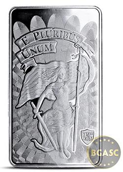 10 oz Silver Bar Liberty & Unity .999 Fine Bullion Ingot