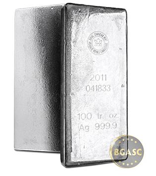 100 ounce silver bar canadian mint
