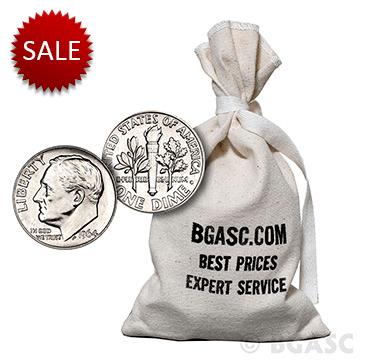 $100 silver dime bag