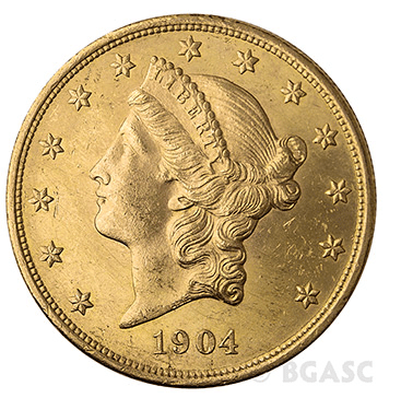 $20 Liberty Gold Eagle front