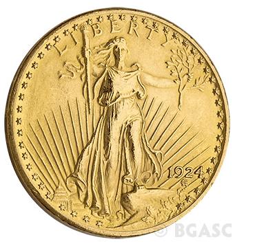 $20 St. Gaudens Front