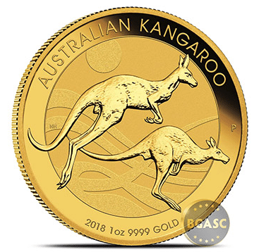 2018 1 ounce Perth Mint Gold Kangaroo