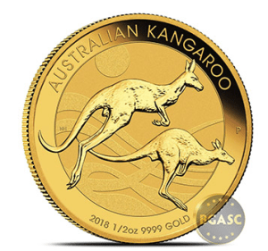 2018 1/2 ounce Perth Mint Gold kangaroo