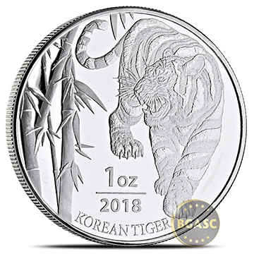 2018 Korean Tiger silver round front