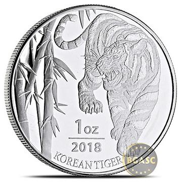 2018 Korean Tiger silver round front