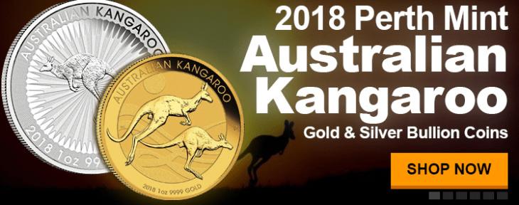 2018 Perth Mint gold and silver kangaroos