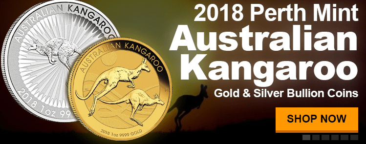 2018 Perth Mint gold and silver kangaroos