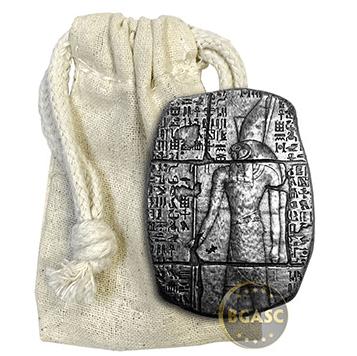 3 oz silver Egyptian Monarch Horus relic bar in bag