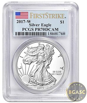 American Silver Eagle Deep Cameo 2017 bgasc